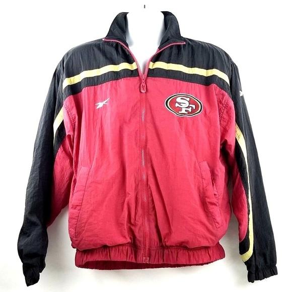 05b40894 VTG REEBOK PRO-LINE San Francisco 49ers Jacket NFL